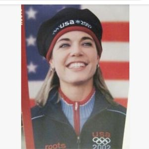 Roots 2002 USA Olympic Beret Hat